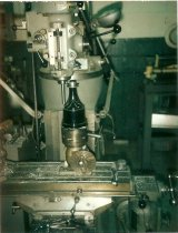 Image of Turner Brass Co. machine with proposed black torch for the1984 Olympics - Photograph