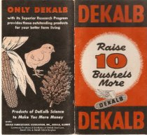 Image of Booklet - DeKalb Agricultural Assoc. booklet from 1962