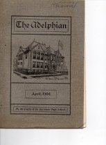Image of Yearbook - The Adelphian, April 1904