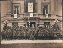 Image of WWI military returnees in front of Courthouse, June 10, 1919 - Photograph