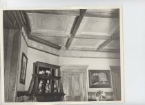 Image of Interior room of the E. F. Dutton home, Coffered ceiling