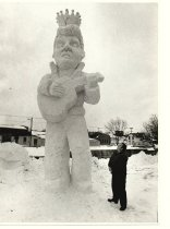 Image of Sculpture by Lynden Bute in 1985 of Elvis Presley, twenty five feet high - Photograph