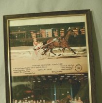 Image of Harness Race in Maywood Park, Ilinois - Photograph