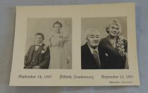 Image of John and Florence Thompson Wedding Anniversary - Photograph, Black-and-White