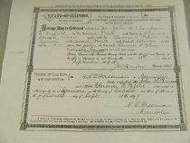 Image of Certificate, Marriage -