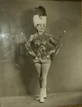 Image of Marlyn Burkart, founder of Marlyn's Majorettes - Photograph, Black-and-White