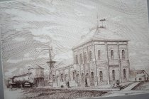 Image of Drawing - Chicago and Northwestern Depot, Drawing