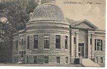 Image of Postcard - Postcard, Library, Sycamore, Illinois