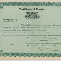Image of Certificate of Election for Mayor