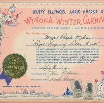 Image of Three Winona Winter Carnival Certificates