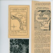 Image of Garden of Eden Booklet by Rev. D.O. Van Slyke, Swinging Bridge Photo