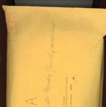 "Image of Envelope ""A"", Edith Bartlett-Moody Family"