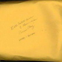 Image of Large envelope of travel postcards & letters, dated 1940/1950(s).