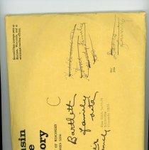 "Image of Envelope ""C"" Edith Bartlett-Moody Family"