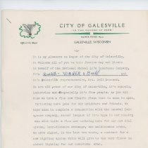 Image of Personal & Business (Mayor of Galesville) Letters