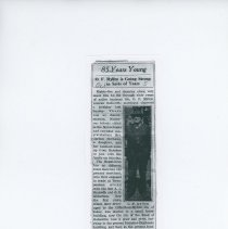 Image of O. F. Myhre (Father of Ralph Myhre) newspaper clipping.