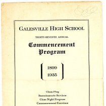 Image of Commencement Program, Galesville High School, 1935