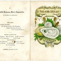 Image of Menu Card, Galesville Business Men's Assoc., January 15, 1914