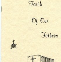 "Image of History Pamphlet from Zion Lutheran Church - ""Faith of Our Fathers"""