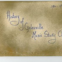 Image of Booklet: History of Galesville Music Study Club 1920-1970
