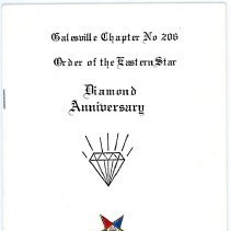 Image of Booklet: Galesville Order of the Eastern Star, 1914-1989