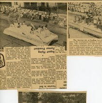 Image of Newspaper Clippings: Galesville Centennial, June 1954