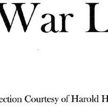 Image of Civil War Letters, Collection of Harold & Vivian Heath
