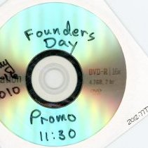 Image of DVD: Founder's Day May 15th & 16th, 2010.