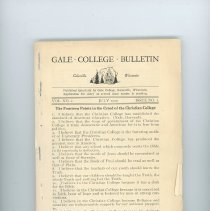 Image of 2013.7777.0291 - Gale College Bulletin