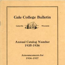 Image of 2013.7777.0295 - Gale College Bulletin
