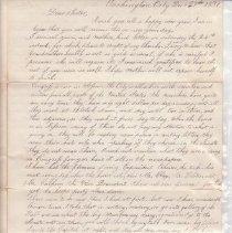Image of Fletcher letter page 1