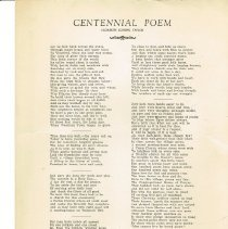Image of Centinnial Poem