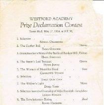 Image of W.2001.51 - Program