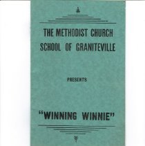 "Image of ""WINNING WINNIE"" church play program booklet"