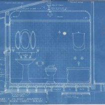 Image of Bathroom blueprint 2nd 1/4