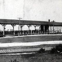 Image of Florida East Coast Railroad Depot - Pablo Beach, Florida Florida East Coast Railroad Station (Depot).
