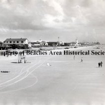 Image of Beach scene looking North - Jacksonville Beach, Florida - 1970's