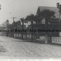 Image of Palmetto Avenue - Palmetto Avenue, school house at the end of the street.