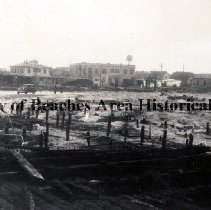 Image of Scene near Willard Avenue after the October 1933 Fire - Jacksonville Beach, Florida