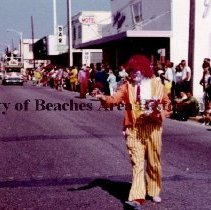 "Image of The ""Clown Division ""   in Shrine Parade - Jacksonvile Beach, Florida   1968