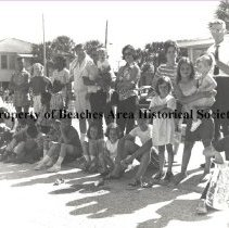 Image of Crowd Watching Welcome Day Parade - Jacksonville Beach, Florida.