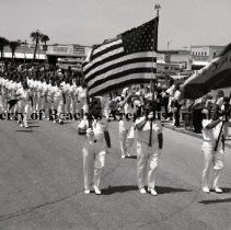 Image of Honor Guard - Parade of State Shriners - Jacksonville Beach, Florida Parade of State Shriners.  Honor Guard Saturday, May 18, 1974 (See also article:  The Beaches Leader, Thursday, May 23, 1974)