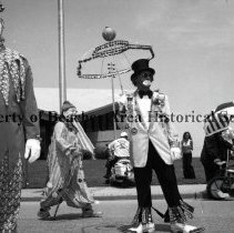 Image of Parade of State Shriners-Clowns - Jacksonville Beach, Florida  Parade of State Shriners Clowns                                              Saturday, May 18, 1974 (See also article:  The Beaches Leader, Thursday, May 23, 1974)