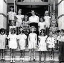 Image of Mrs. Willhelm's  1st Grade - School #50 - Jacksonville Beach, Florida  -   May,1948 Mrs. Willhelm's    First Grade.
