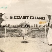 "Image of Benny P. Buza, Jr. O.D. and friend "" Ted"" - Ponte Vedra Beach, Florida -  August 15 , 1943)