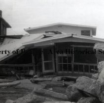 "Image of George A. Ortagus House damaged by Hurricane Dora. - Jacksonville Beach, Florida, September 1964 George A. Ortagus House - 2615 S. Ocean Drive (After Hurricane ""Dora"")"