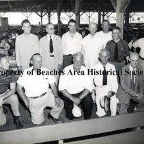 Image of Elks picnic at Jacksonville Beach Pier - Jacksonville Beach, Florida ca. 1948 Elks picnic at old Jacksonville Beach Pier