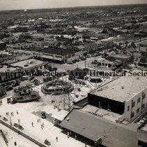 Image of Amusement Park at Jacksonville Beach - Jacksonville Beach, FL Aerial view of amusement park at Jacksonville Beach.