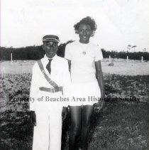Image of Robert Brooks and Ruby McGhee - Jacksonville Beach, Florida- August, 1949