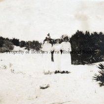 Image of Three Ladies at the Beach -  Probably Pablo Beach 1800's - 1920's Three unknown  ladies.